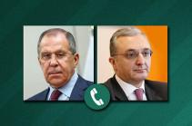 Главы МИД Армении и России обсудили по телефону вопросы сотрудничества