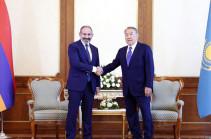 Премьер-министр Пашинян провел телефонный разговор с Нурсултаном Назарбаевым