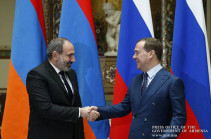 Russian PM Medvedev to arrive in Armenia on April 30