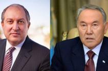 Президент Армен Саркисян провел телефонный разговор с Нурсултаном Назарбаевым