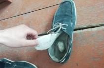 Դատապարտյալին տեսակցության եկած քաղաքացու կոշիկի տակդիրի միջից հայտնաբերել և առգրավել են 5.2 գր քաշով, դեղնականաչավուն, բուսական զանգված