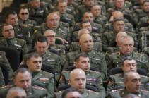В Минобороны состоялся оперативный сбор командного состава ВС с участием представителей Армии обороны Арцаха (Фото)