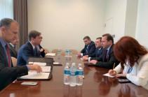 Դավիթ Տոնոյանը հանդիպել է ԱՄՆ պետքարտուղարի՝ քաղաքական հարցերով տեղակալ Դեյվիդ Հեյլի հետ