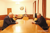Artsakh president, OSCE CiO personal representative discuss situation on line of contact