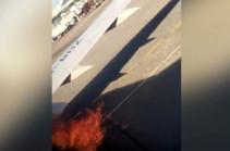 Վնուկովոյում օդանավ է այրվել (Տեսանյութ)