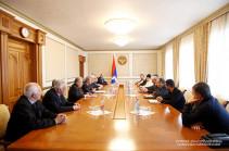 Bako Sahakyan received the delegation of the Pan-Armenian Games' World Committee