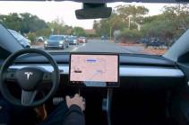 Tesla-ն  ներկայացրել է իր լիարժեք ավտոպիլոտի աշխատանքը (Տեսանյութ)