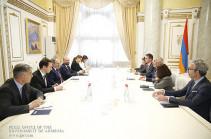 Փաշինյանն ընդունել է Լիոնի քաղաքապետի առաջին տեղակալ Ժորժ Կեպենեկյանին