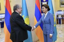 ՀՀ նախագահը հանդիպել է Դարիգա Նազարբաևայի հետ