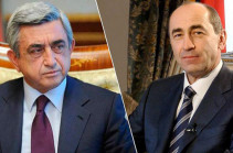 Armenia's second and third presidents meet after Kocharyan's release