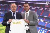 «Реал» представил Азара. Бельгиец поцеловал эмблему клуба