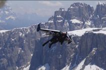 Էքստրեմալը, հրթիռային թևերը մեջքին, Ալպերի վրայով անցել է  278 կմ/ժ արագությամբ  (տեսանյութ)