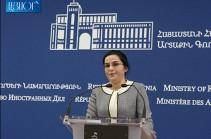 Ադրբեջանի ԱԳ նախարարի պնդումները չեն համապատասխանում իրականությանը, նրա մոտեցումն ապակառուցողական է. Աննա Նաղդալյան