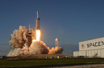 SpaceX launches Falcon Heavy rocket with 24 satellites
