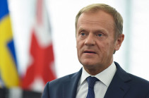 Karabakh conflict has only political solution: Tusk