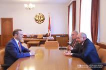 Президент Карабаха встретился с секретарем Совета безопасности Армении