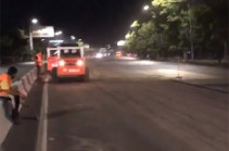 Քաղաքապետարանը չի ընդունել անորակ ճաքալցման աշխատանքը Արշակունյաց պողոտայում (Տեսանյութ)