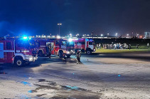 8 человек пострадали после задымления самолета в Шереметьево (Видео)