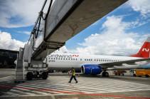 Резервный борт авиакомпании Nordwind совершил посадку в Ереване