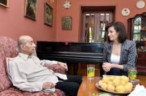 Աննա Հակոբյանն այցելել է կոմպոզիտոր Վլադիլեն Բալյանին