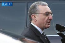 Глава МИД Армении отбудет с официальным визитом в Грузию
