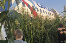 Plane crash landing in Moscow region leaves 55 injured