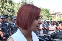 Ինձ դուր չեկավ, որ ակցիա անողներին ոստիկանները քաշքշում են. Անի Սամսոնյան