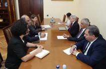 Փոխվարչապետ Մհեր Գրիգորյանն ընդունել է Արժույթի միջազգային հիմնադրամի տարածաշրջանային տնօրենին
