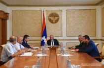 Бако Саакян провел рабочее совещание по возникшим проблемам водоснабжения Степанакерта