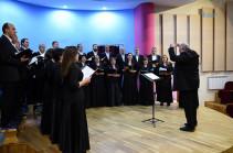Հայաստանի պետական կամերային երգչախումբը Մանսուրյանին նվիրված համերգով հանդես է եկել Արցախում
