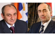 Armenia's second president congratulates Artsakh president on 28th anniversary of independence of Artsakh