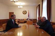 Bako Sahakyan discusses security cooperation issues with Armenia's Security Council Secretary