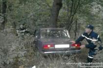 Մեքենան դուրս է եկել ճանապարհի երթևեկելի հատվածից և սահել ձորը