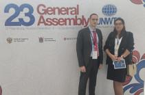 Զբոսաշրջության կոմիտեի պատվիրակությունը մասնակցել է ՄԱԿ ԶՀԿ Գլխավոր ասամբլեայի 23-րդ նստաշրջանին