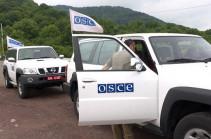 Миссии ОБСЕ провела очередной мониторинг на линии соприкосновения ВС Арцаха и Азербайджана