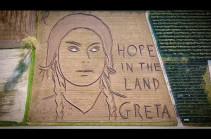 Վերոնայի դաշտերից մեկում հայտնվել է Գրետա Տունբերգի հսկա դիմանկարը (Տեսանյութ)