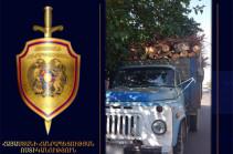 Շենգավիթի ոստիկանները փայտանյութով բարձված բեռնատար են հայտնաբերել (Տեսանյութ)