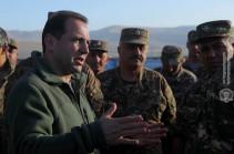Armenia's DM visits military facilities in Artsakh