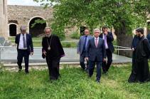 Սերժ Սարգսյանն այցելել է Ամարասի վանական համալիր (Տեսանյութ)