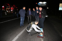 Two people suspected in murder of police officer in Yerevan taken to police department
