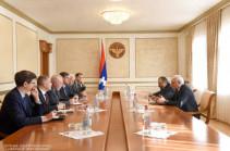 Artsakh president, OSCE Minsk Group co-chairs discuss Karabakh conflict settlement issues