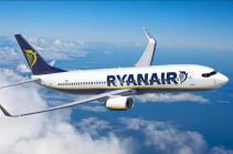 Irish Ryanair announces flights from Armenia from 2020