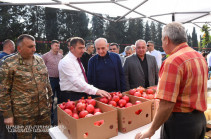 Artsakh Republic President was present at the pomegranate festival
