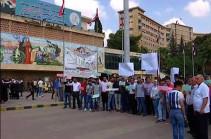 В Алеппо студенты протестуют против присутствия войск США