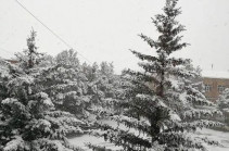 Heavy snow registered in some Armenian regions (photos)