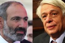 Armenia has special attitude toward Greece: Armenia's PM meets with Greek president