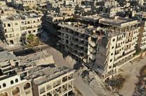 При падении снарядов у дворца правосудия в Алеппо пострадали шесть горожан