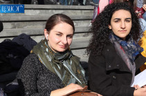 Arayik Harutyunyan is free to travel via metro and make inquiry to understand people's moods: students