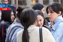 Не собираемся посещать занятия до тех пор, пока Араик Арутюнян не собрал свои вещи и не ушел – участник акции протеста (Видео)