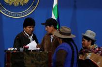 Моралес вылетел из Боливии в Мексику